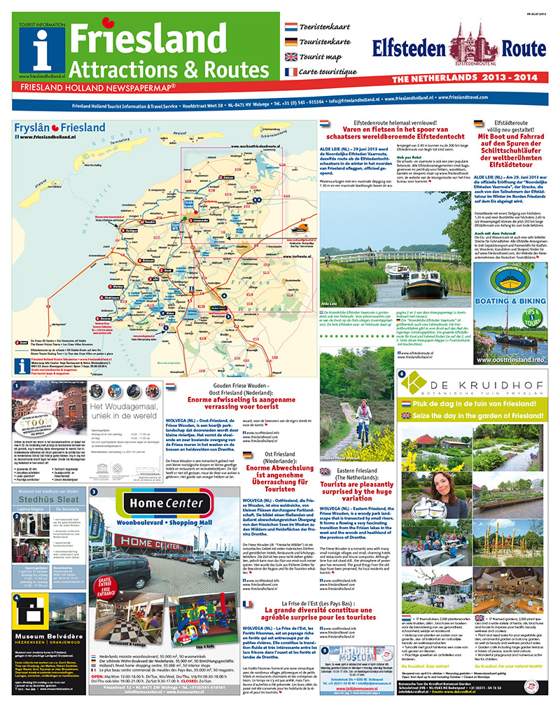 Friesland Attractions & Routes 2013.