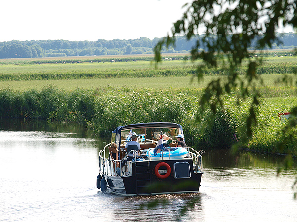 River cruising in the Netherlands.