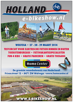 Poster en advertentie van de Holland E-bike Show.